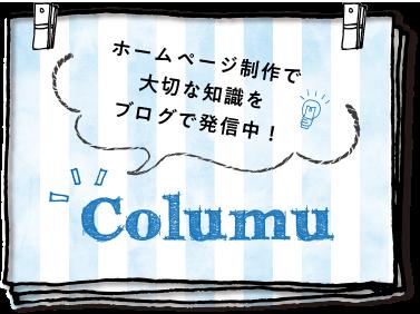 ホームページ制作で大切な知識をブログで発信中!Columu